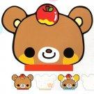 Q-Lia Japan Happy Bear Die Cut Memo Pad