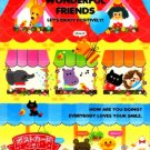 Kamio Japan Wonderful Friends Memo Pad #3