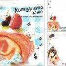 Q-Lia Japan Kumakuma Time Mini Memo Pad