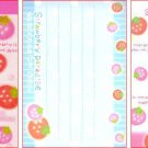 Crux Japan Strawberry Paradise Mini Memo Pad