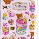 San-X Japan Rilakkuma Desserts Sticker Sheet #1 (p)