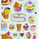 San-X Japan Rilakkuma Desserts Sticker Sheet #4 (b)
