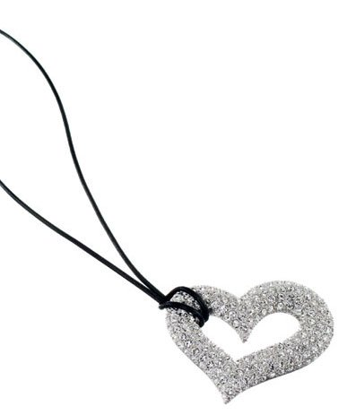 Lady Swarovski Crystals Necklace Jewelry Jewellery NEW - HEART DIVA