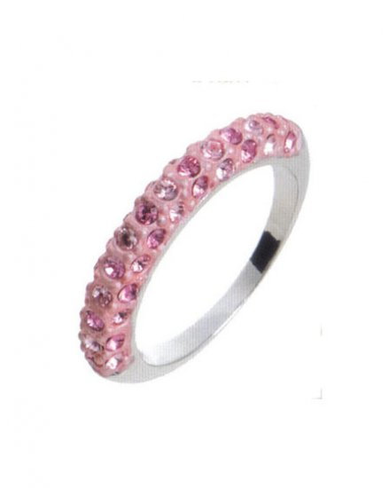 Lady Swarovski Crystals Pink Ring Jewelry Jewellery NEW - RING DIVA SCHMAL