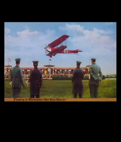 THE RED BARON FIGHTER AIRCRAFT POSTCARD FROM GERMANY