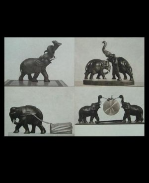 VINTAGE INDIAN ELEPHANT SCULPTURE ART POSTCARDS FROM 1956
