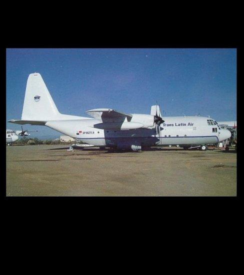 TRANS LATIN AIR LOCKHEAD C-130A HERCULES POSTCARD