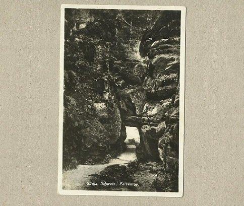 GERMAN REICH Sachs Schweiz Felsentor POSTCARD 1929