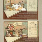 COLLECTION OF FOUR UKRAINIAN LANGUAGE RECIPE POSTCARDS