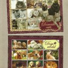 DOMESTIC CATS AND DOGS PAIR OF POSTCARDS FROM THE UKRAINIAN POST OFFICE