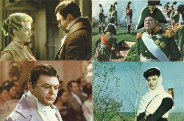 WAR AND PEACE CLASSIC RUSSIAN MOVIE 1969 FOUR POSTCARDS