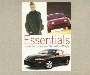 CHEVROLET AND MACYS ESSENTIALS ADVERTISING POSTCARD