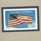 HONORING VETERANS STARS AND STRIPES FLAG ON UNITED STATES POSTCARD