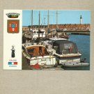 PORT OF CALAIS FRANCE HARBOUR BOATS LIGHTHOUSE UNUSED POSTCARD