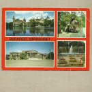 BUDAPEST VAROSLIGET CITY PARK HUNGARY MULTIVIEW POSTCARD STAMP AND CANCELLATION FROM 1981