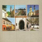 SZENTENDRE HUNGARY MULTIVIEW POSTCARD RUSSIAN CONCORDE TUPOLEV 144 STAMP AND CANCELLATION
