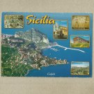SICILIA SICILY ITALY MULTIVIEW POSTCARD TWO ITALIAN STAMP AND CANCELLATION 2011