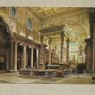 VATICAN CITY  SAINT MARY MAJOR CHURCH POSTCARD WITH VATICAN STAMPS AND CANCELLATION FROM 1985