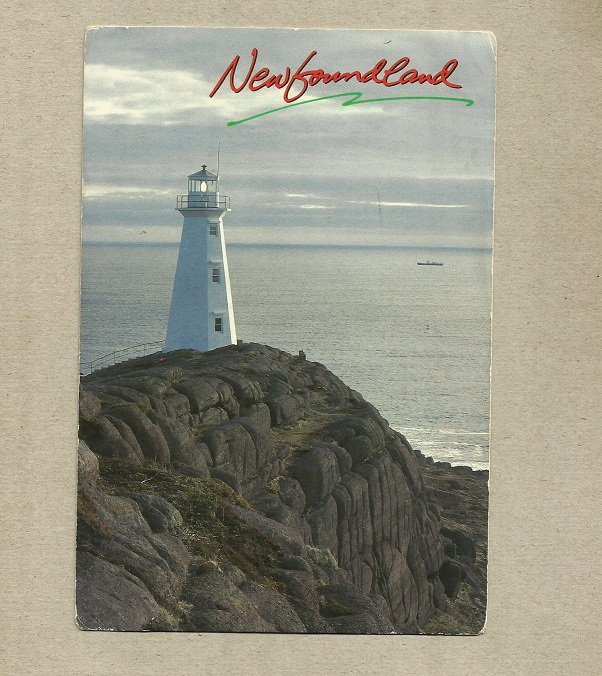 CAPE SPEAR LIGHTHOUSE ST JOHN'S NEWFOUNDLAND CANADA POSTCARD