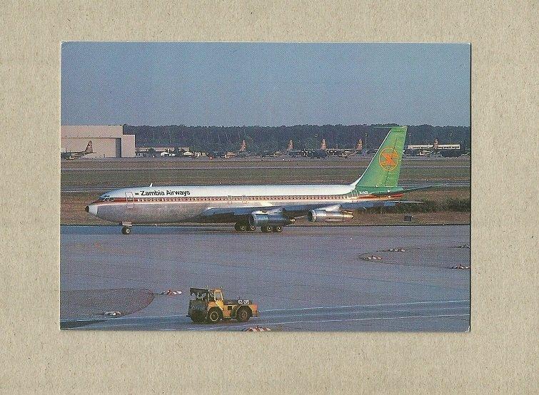 ZAMBIA AIRWAYS BOEING 707 POSTCARD