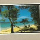 MARTINIQUE  SUN SEA AND SAND VIEW POSTCARD POSTED GUADELOUPE 2010