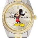 NEW Mens Disney Mickey Mouse Date/Day Seiko 2-Tone Watch