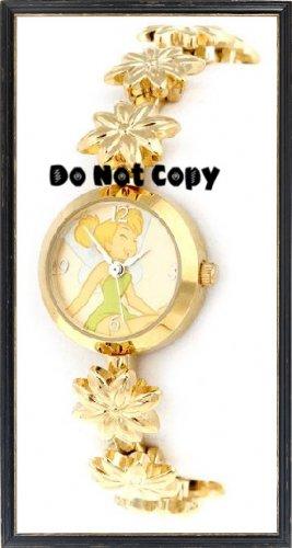 BRAND NEW Disney/Seiko Tinkerll Gold Flower Charm Watch