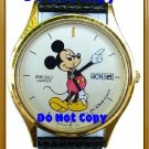 NEW Mens Disney Mickey Mouse SEIKO Date & Day Watch HTF