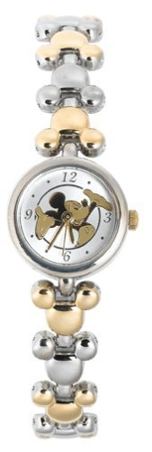 BRAND NEW Disney Mickey Mouse 2-tone Links Watch HTF