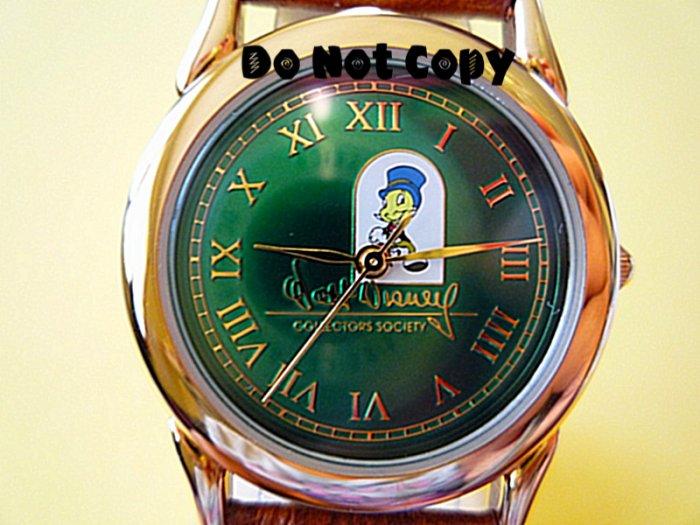 NEW Disney Jiminy Cricket Collector Society Watch HTF