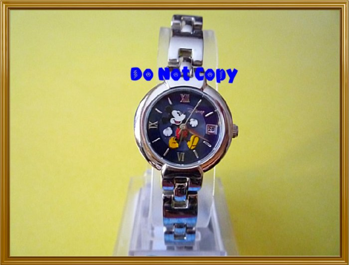 NEW Disney/Seiko Ladies Mickey Mouse w/Date Watch HTF