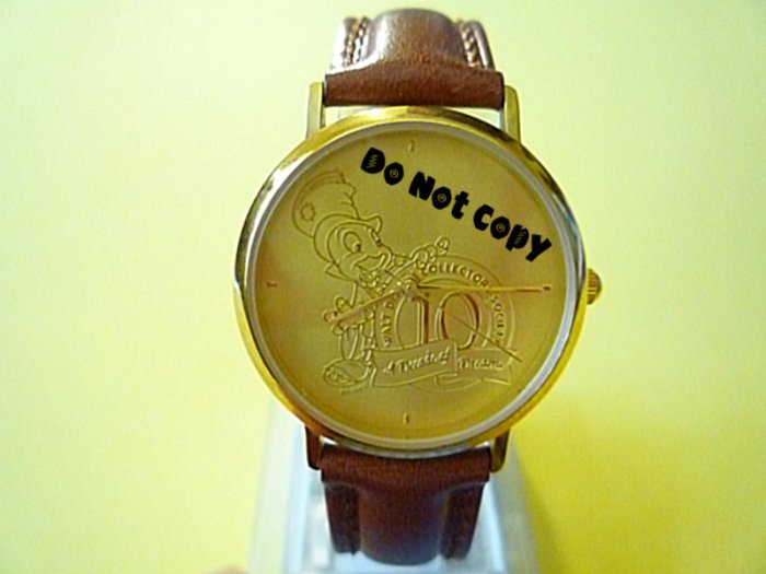 NEW Disney JIMINY CRICKET Gold Silhouette Watch HTF