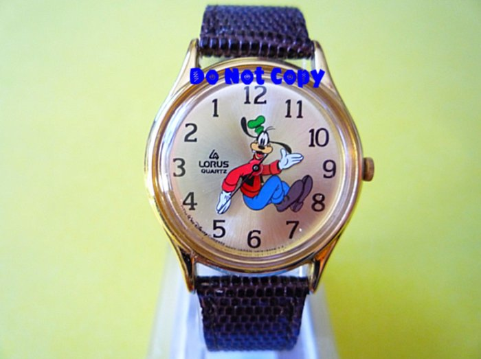 NEW Vintage Disney Goofy Backwards Watch OLD Series HTF