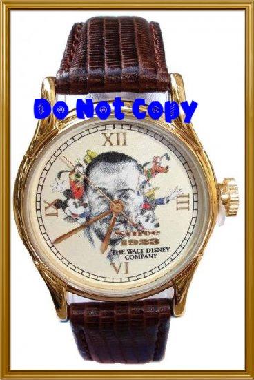 Mens Walt Disney Mickey, Minnie, Goofy, Pluto Watch Limited Edition