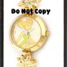 NEW Disney/Seiko TINKERBELL Gold Flower Charm Watch