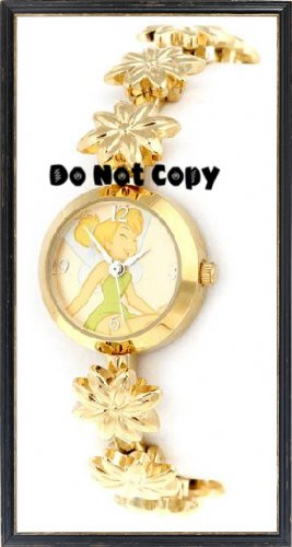 NEW Disney/Seiko TINKERBELL Gold Flower Charm Watch