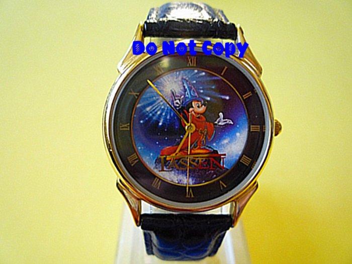 NEW Disney Mickey Mouse Sorcerer Fantasia Lassen Watch Vintage