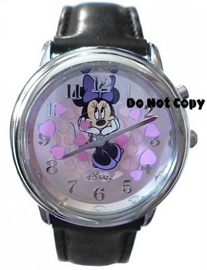NEW Disney Minnie Mouse Animated Pink Hearts Watch HTF