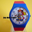 NEW Vintage Disney/Lorus Mickey Mouse Fireman Firefighter Watch
