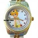 NEW Ladies Disney Seiko Tinkerbell 2Tone Watch HTF