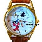 NEW Disney Mickey Mouse Fantasia Sorcerer Rotating Watch HTF