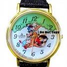NEW Vintage Disney Lorus 3 Little Pigs & Wolf Watch HTF