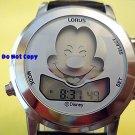 Mens Disney Lorus Mickey Mouse Winks Music Silver Watch