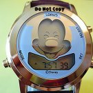 Mens Disney Lorus Mickey Mouse Winks Musical Gold Watch