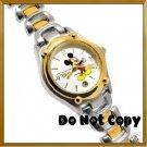 BRAND NEW Disney Mickey Mouse 2Tone w/Date Watch HTF