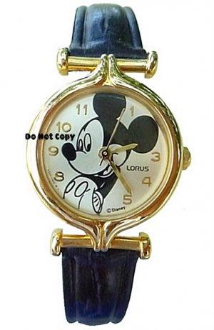 NEW Ladies Disney Lorus Mickey Mouse Leather Watch HTF