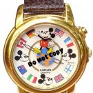 NEW Disney/Lorus Mickey Mouse Musical Flags Globe Watch