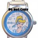 NEW Disney Cinderella Silver Italian Charm Watch HTF