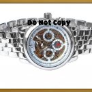 NEW Mens CTI 21J Swiss Automatic 18K Skeleton Watch