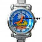 BRAND NEW Snoopy & Woodstock Italian Charm Silver Watch